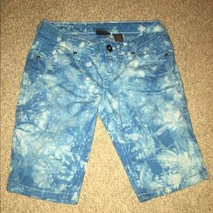 Pants - Blue and White Size 0 Shorts